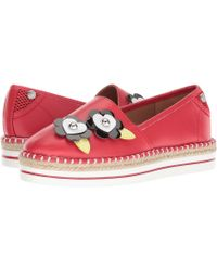 Love Moschino - Faux Leather Espadrille (red) Women's Shoes - Lyst