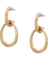 The Sak - Double Hoop Earrings (silver) Earring - Lyst