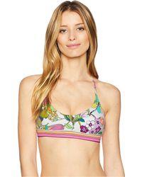 Trina Turk - Key West Botanical Bralette Top (white) Women's Swimwear - Lyst
