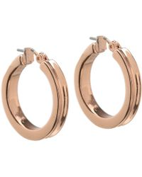 Guess | Small Wide Hoop Earring | Lyst