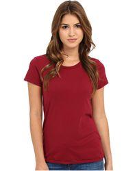 Alternative Apparel - Cotton Jersey Vintage Tee (white) Women's T Shirt - Lyst