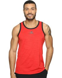 6c57895e1c292b adidas - Heathered Tank (scarlet black) Men s Sleeveless - Lyst