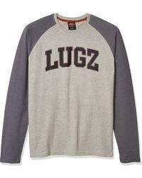 Lugz First Pitch Long Sleeve Raglan T-shirt - Gray