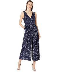 Kate Spade Scatter Dot Velvet Jumpsuit - Blue