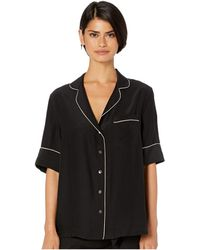 Kiki de Montparnasse Amour Pj Top Short Sleeve - Black