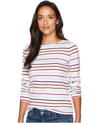 Joules - Harbour Jersey Top (cream Stripe) Women's Clothing - Lyst