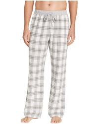 True Grit Dakota Plaid Flannel Pajama Pants With Heather Trim (grey) Pajama - Gray