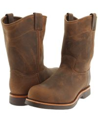Chippewa - 10 Apache Steel Toe Pull On (brown) Men's Work Boots - Lyst