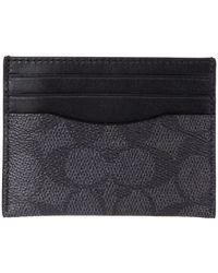COACH Flat Card Case In Signature Handbags - Black