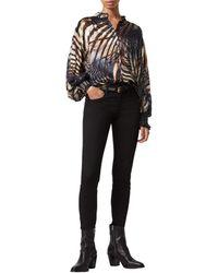 AllSaints Leonie Unison Top Clothing - Black