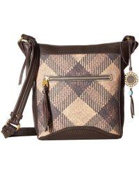 The Sak - Tahoe North/south Crossbody Collective (black/white Heritage) Cross Body Handbags - Lyst