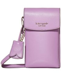 Kate Spade Spencer North/south Phone Crossbody - Pink