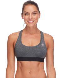 Body Glove Aria Light Support Activewear Sport Bra - Gray
