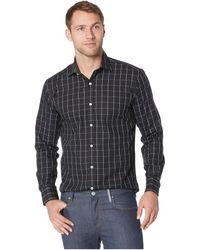 Bugatchi - Long Sleeve Shaped Fit Woven Shirt (caviar) Men's Clothing - Lyst