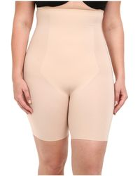 Spanx - Plus Size Thinstincts(r) High-waisted Mid-thigh Short (soft Nude) Women's Underwear - Lyst