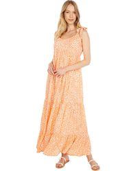 Hurley Tiered Maxi Dress - Orange