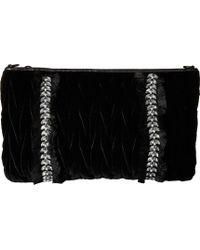 Sam Edelman Elizabella Clutch With Crossbody (black Velvet) Cross Body Handbags