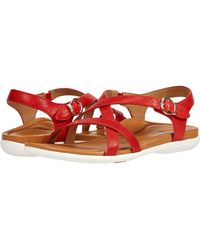 Aetrex Penny Shoes - Red