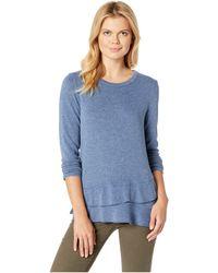 Mod-o-doc - So Soft Sweater Knit Long Sleeve Pullover With Asymmetrical Flounce Hem (dusty Pink) Women's Sweater - Lyst