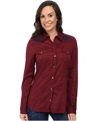 Stetson Solid Cotton Long Shirt - Red