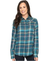 Stetson Brushed Twill Ombre Plaid Shirt - Blue