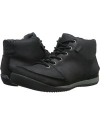 Simple - Altitude Men Round Toe Leather Black Boot - Lyst