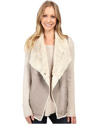 Dylan By True Grit - Madison City Faux Sueded Shearling Snap Vest - Lyst