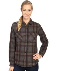 United By Blue Cayley Wool Plaid - Gray