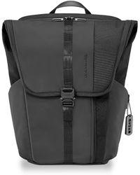 Briggs & Riley Delve Large Fold-over Backpack - Black