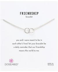 Dogeared - Friendship Double Linked Rings Chain Bracelet (sterling Silver) Bracelet - Lyst