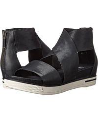 Eileen Fisher Sport Crisscross Wedge Platform Sandals - Black