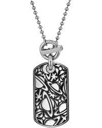 Vivienne Westwood - Angelo Long Tag Pendant Necklace - Lyst