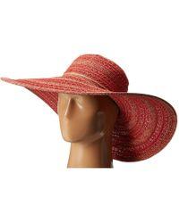 05a010c9 San Diego Hat Company Rbm5563 Bucket Ribbon Hat With Crochet Hemp Edging  (black) Traditional Hats in Black - Lyst