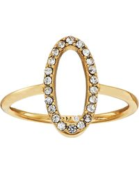 Rebecca Minkoff - 0 Shaped Pave Ring - Lyst