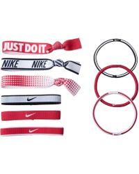 Nike - Mixed Ponytail Holder 9-pack (black/black/white) Hair Ties - Lyst