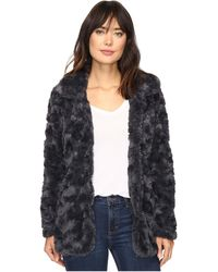Dylan By True Grit - Silky Faux Fur Classic Coat With Fur Lining - Lyst