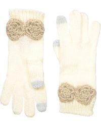 Betsey Johnson Winter Bloom Gloves - White