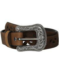 Ariat - Scroll Paisley Pierced Belt (brown) Women's Belts - Lyst