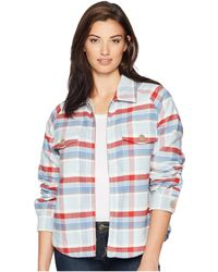 Dylan By True Grit - Big Sky Plaid Zip Jacket With Sherpa Lining (red) Women's Coat - Lyst