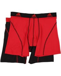adidas Climalite 2 Pack Boxer Brief - Red