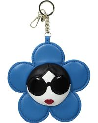 Alice + Olivia | Large Stace Face Leather Flower Charm | Lyst