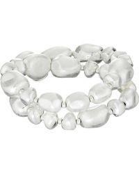 The Sak Wrap Beaded Stretch Bracelet - Metallic