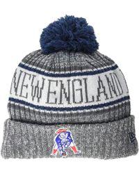 KTZ - New England Patriots Historic Knit (dark Grey) Baseball Caps - Lyst d43a20c3b8a3