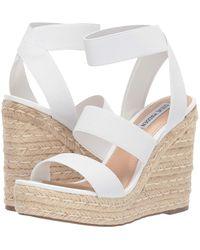 Steve Madden Shimmy Platform Espadrille Wedge Sandals - White