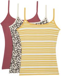 Pact Organic Cotton Shelf Bra Camisole 3-pack - Multicolor