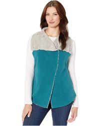 Dylan By True Grit Dylan Soft Blended Micro Fleece Mock Vest - Blue