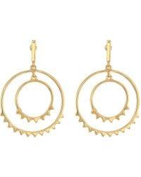 Rebecca Minkoff - Ellie Double Circle Drop Earrings (silver) Earring - Lyst