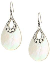 John Hardy - Dot Drop Earrings With White Mother-of-pearl (silver) Earring - Lyst