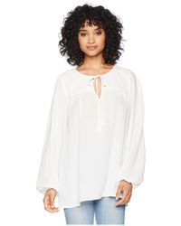 Bishop + Young - Peasant Blouse (ivory) Women's Long Sleeve Pullover - Lyst