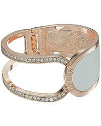 Guess - Hinged Logo Cuff Bracelet - Lyst